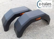 2x TRAILER MUDGUARDS FOR 145x10 500x10 155x13 165x13 175x13 155x12 TYRES- SUPERB